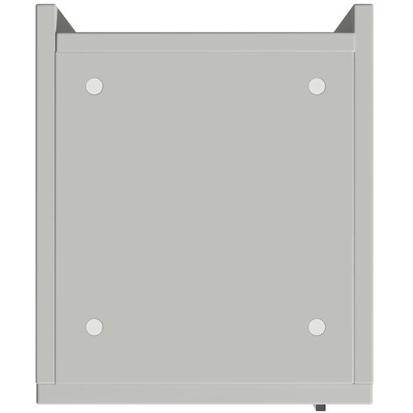 Reeves Wyatt light grey tall storage unit 1950 x 300mm