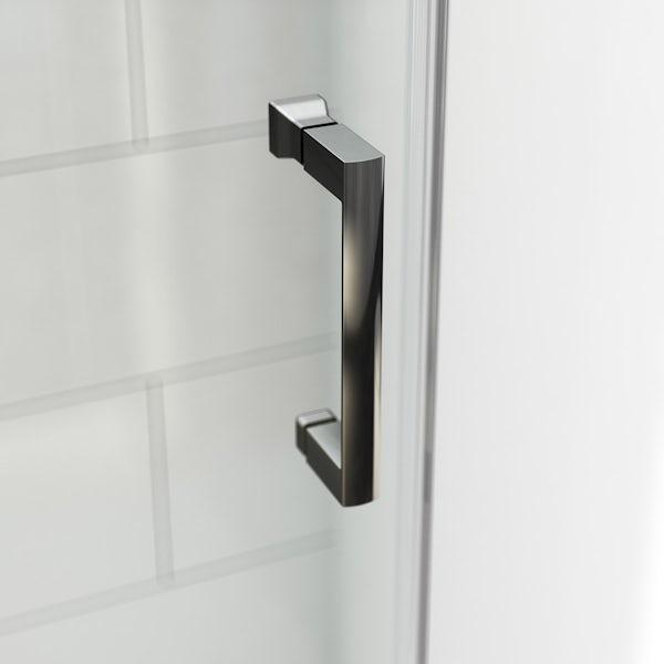 6mm black sliding shower door 1200mm