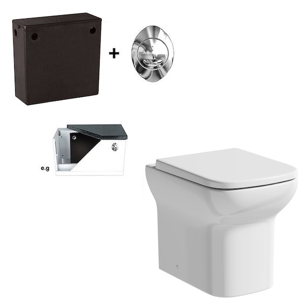 Orchard Lune rimless back to wall toilet with soft close seat and concealed cistern
