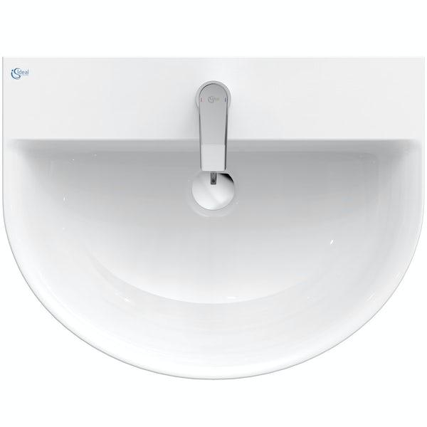 Ideal Standard Concept Air Arc 1 tap hole full pedestal basin 600mm