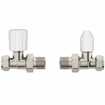 The Heating Co. Clarity straight radiator valves