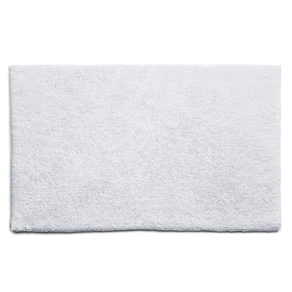 Hug Rug luxury bamboo plain white bathroom mat 50 x 80cm