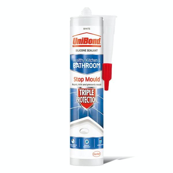 UniBond Triple protect white bathroom sealant