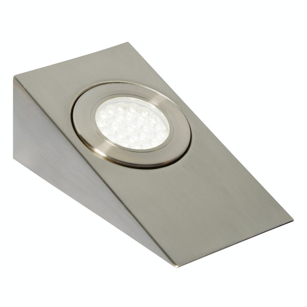 Forum Ziv 1.5w warm white LED satin nickel under cabinet light