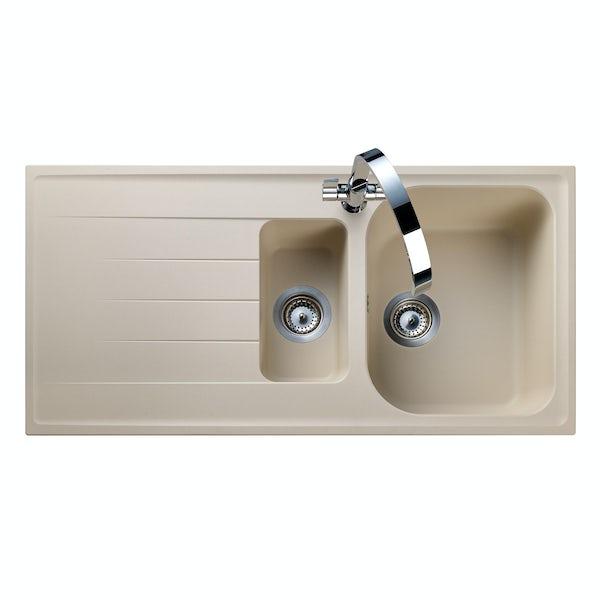 Rangemaster Amethyst igneous 1.5 bowl stone kitchen sink