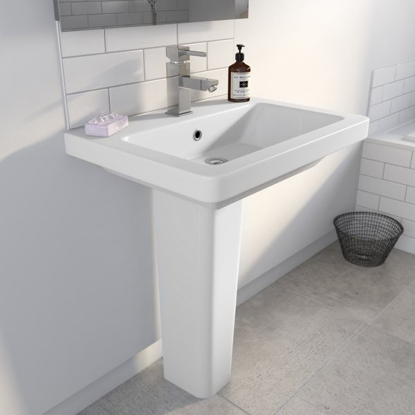 Cooper 1TH 600mm Basin & Pedestal