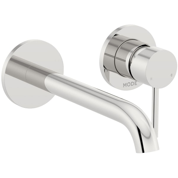 Mode Spencer round wall mounted bath mixer tap offer pack