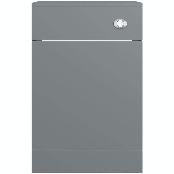 Orchard Elsdon stone grey back to wall toilet unit 500mm