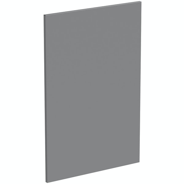 Schon Chicago mid grey 600mm base end panel and support