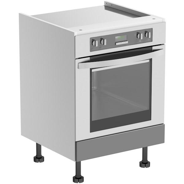 Schon Chicago mid grey slab 600mm built in oven housing