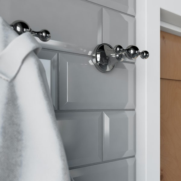 Accents round traditional double robe hook