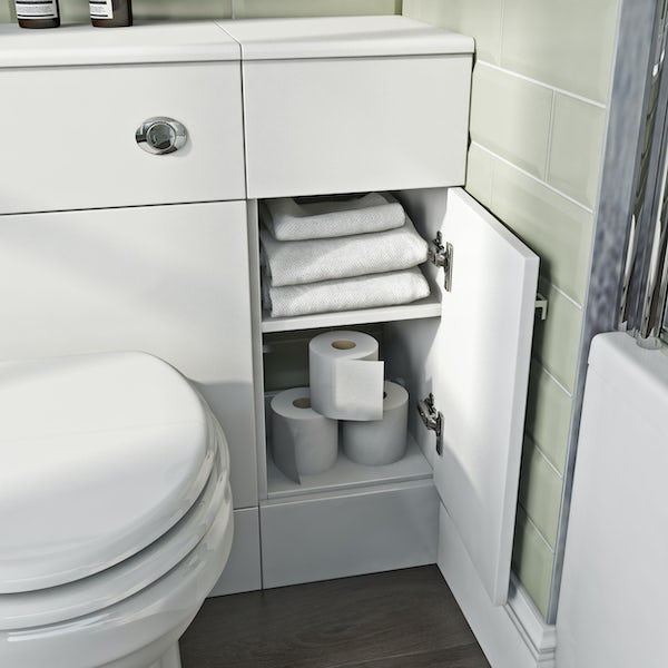The Bath Co. Hatfield white storage unit 800 x 301mm