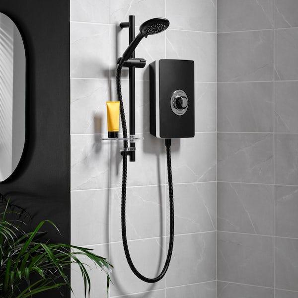 Triton Aspirante electric shower matt black