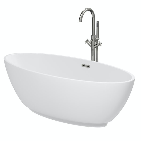 Mode Harrison freestanding bath & tap pack with Tate bath filler