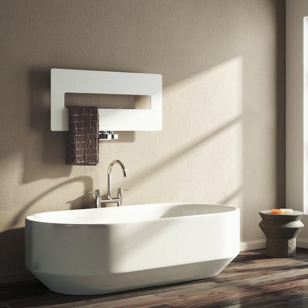 Reina Polia white steel designer radiator 400 x 900mm