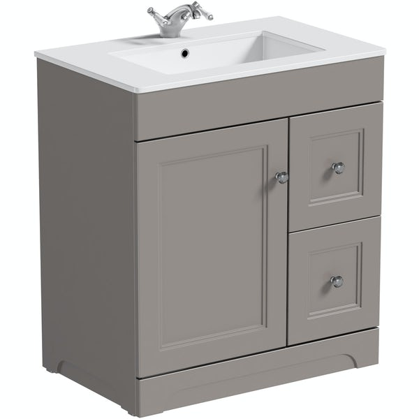 Bathroom Vanity Units B Q: The Bath Co.Winchester Graphite Vanity Unit And Basin
