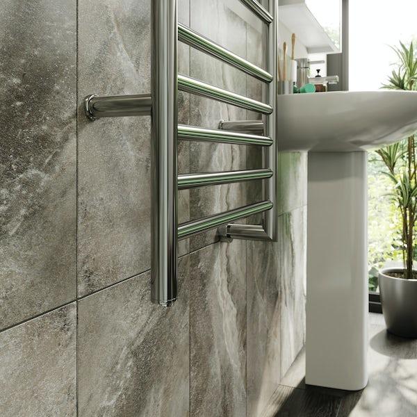 The Heating Co. Electric chrome heated towel rail 1016 x 457