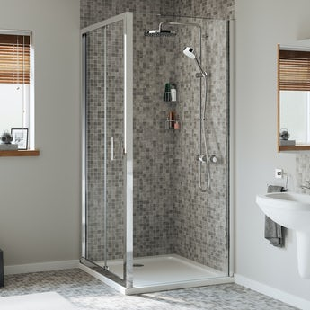 Mira Leap square bifold shower enclosure