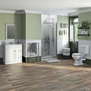 The Bath Co. Winchester complete shower door and furniture suite