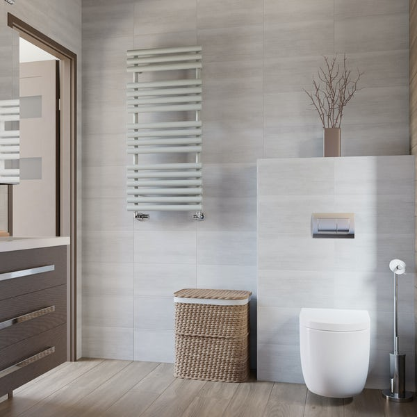 Terma Rolo Towel salt n pepper designer towel rail