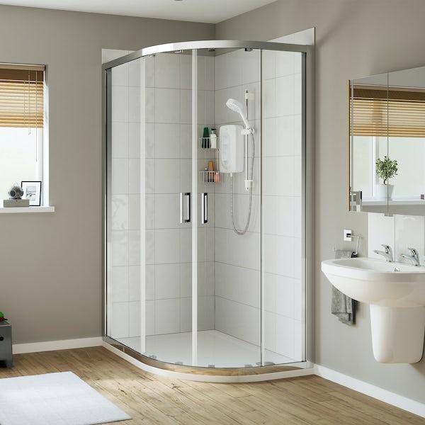 Mia Leap offset quadrant shower enclosure 1200 x 900
