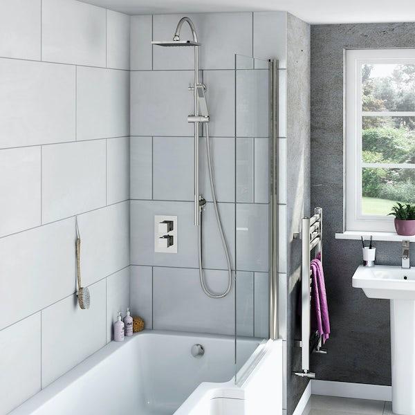 Mode Ellis thermostatic shower bath riser rail set