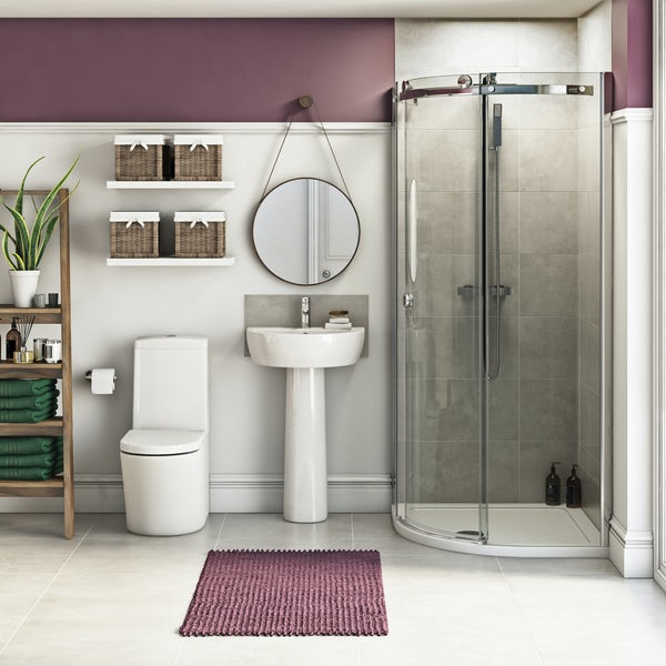 Mode Tate suite with 8mm Infiniti quadrant shower enclosure and tray