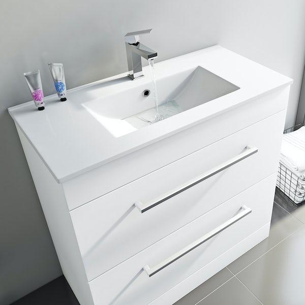 Derwent vanity drawer unit and basin 800mm