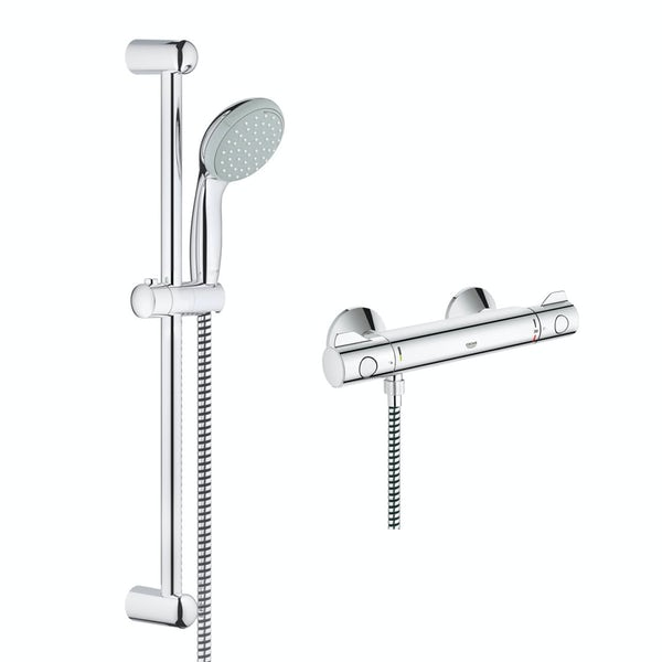 Häufig Grohe Grohtherm 800 thermostic shower set with slider rail kit LS66