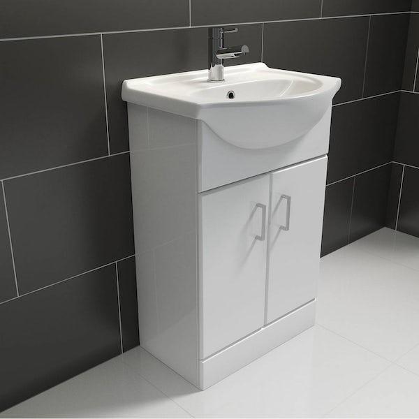 Sienna White 55 Vanity Unit & Basin