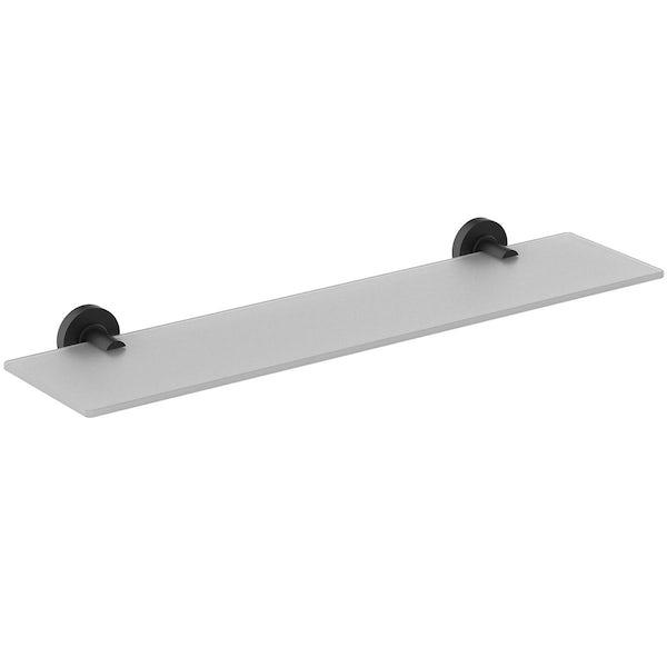 Ideal Standard IOM silk black shelf 600mm