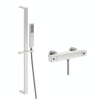 Mode Ellis thermostatic slider rail mixer shower