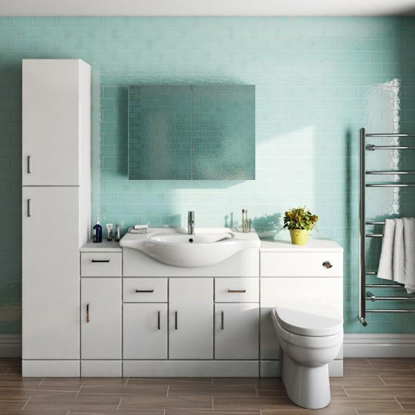 Orchard Eden white mirror cabinet 600 x 800mm