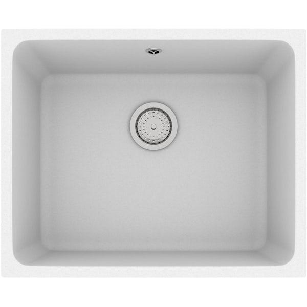 Schön Terre chalk white 1.0 bowl kitchen sink