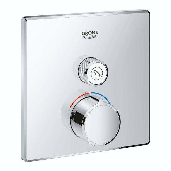 Grohe SmartControl square concealed 1 way shower valve trimset