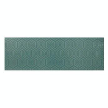 Zenith green patterned gloss wall tile 100mm x 300mm