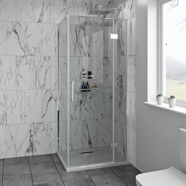 Mode Austin premium 8mm hinged easy clean rectangular shower enclosure
