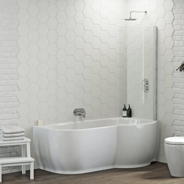 Mode Harrison Right Handed P Shaped Shower Bath And Shower