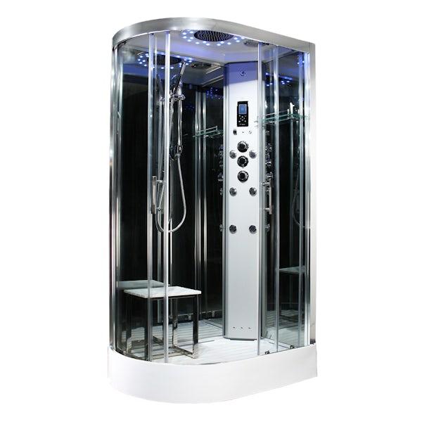 Insignia Platinum offset quadrant right handed hydro-massage shower cabin 1100 x 700