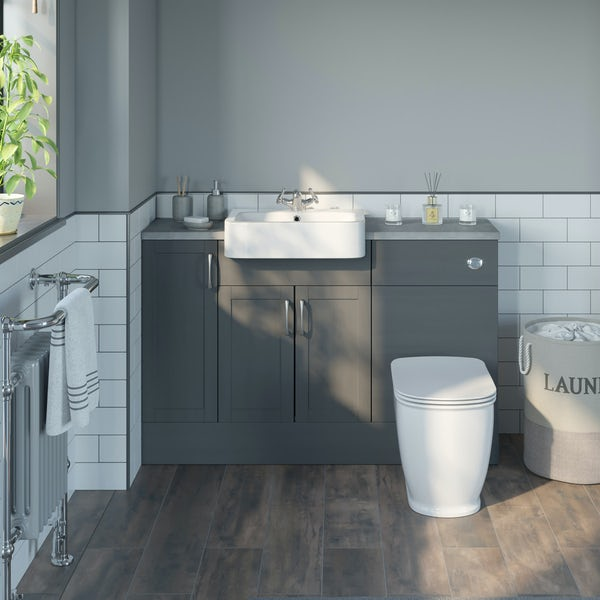 The Bath Co. Newbury dusk grey floor cabinet 300mm