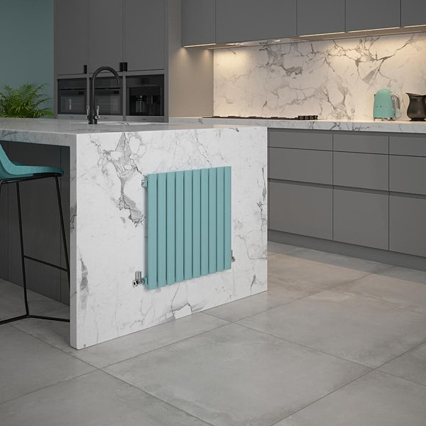 The Tap Factory Vibrance blue vertical panel radiator