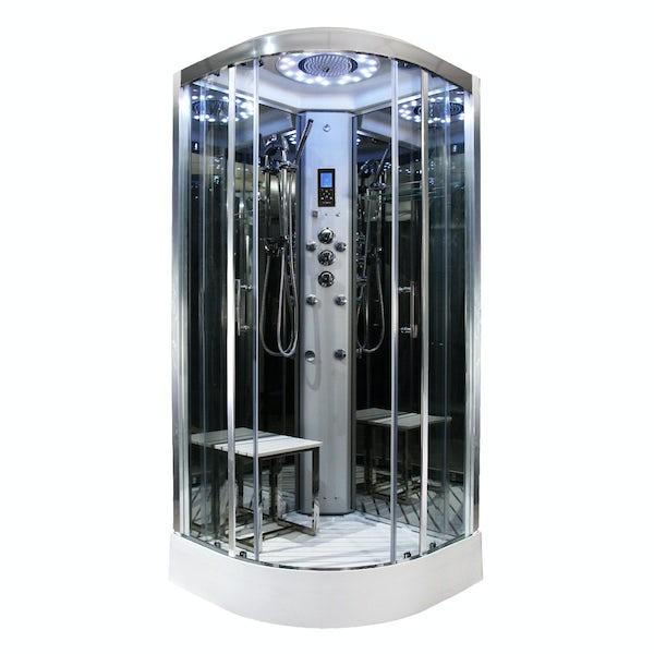 Insignia Platinum quadrant steam shower cabin