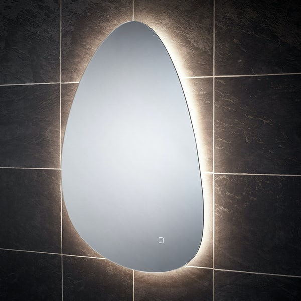 Mode Thorsen back-lit diffused LED illuminated mirror 800 x 500mm with demister