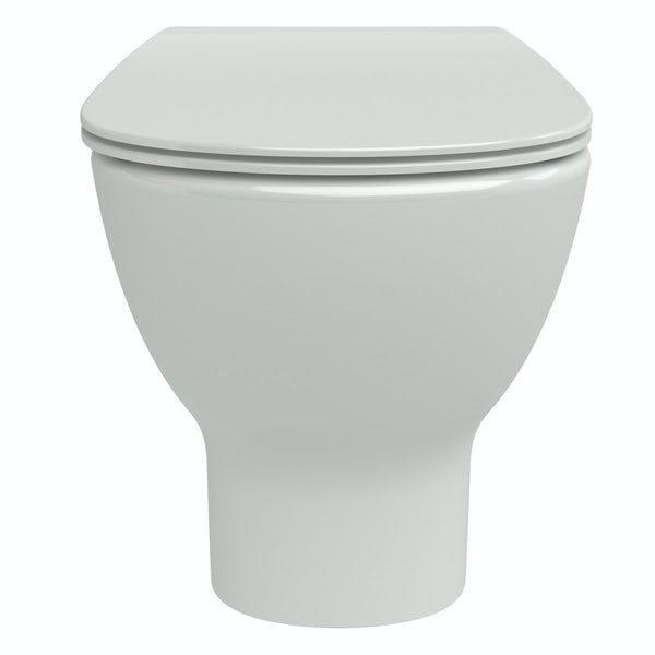Ideal Standard Tesi back to wall toilet with Aquablade rimless technology and soft close toilet seat