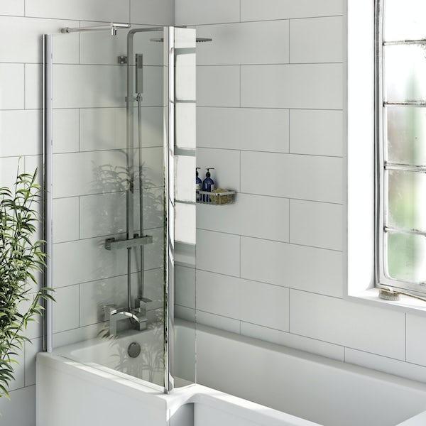 Pure white flat matt wall tile 200mm x 600mm