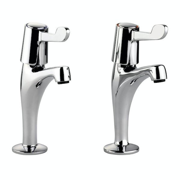 Leisure lever handle kitchen pillar taps