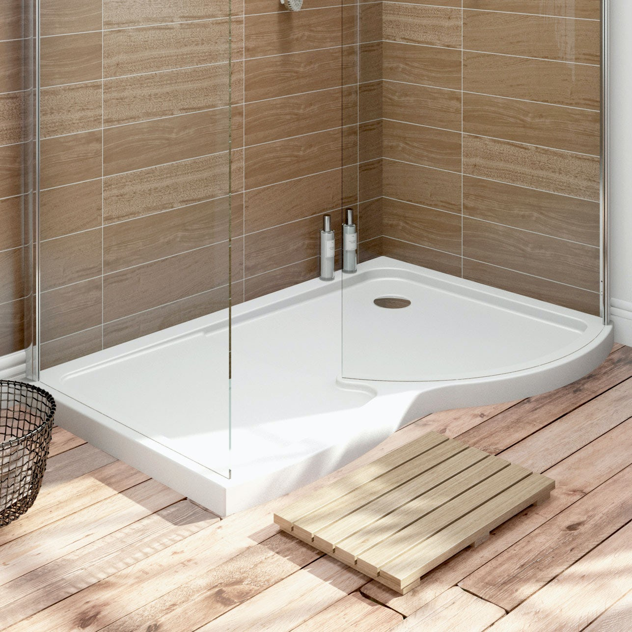 Orchard Curved Walk In Shower Enclosure Tray Rh