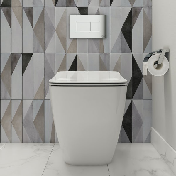 Ideal Standard Strada II back to wall toilet with soft close seat and concealed toilet cistern