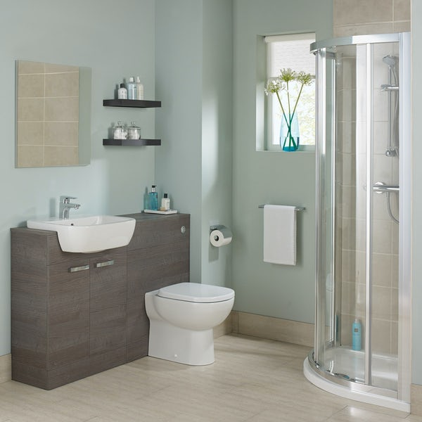Ideal Standard Tempo complete sandy grey furniture ensuite shower enclosure suite 800 x 800