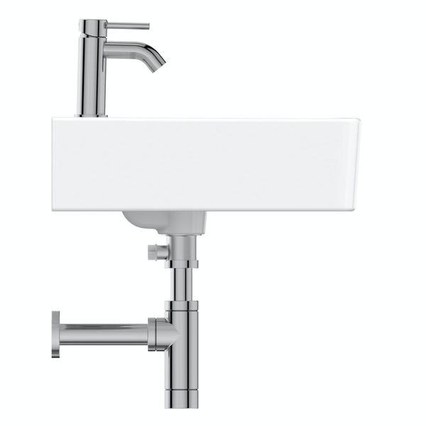 Ideal standard concept cube 1 tap hole wall hung basin for Diagonal ideal standard